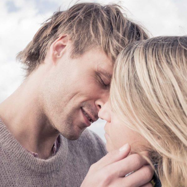 Kuss eines Paars